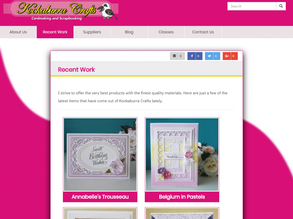 Product images - Jacqui can manage these herself. They are clickable to see an expanded image