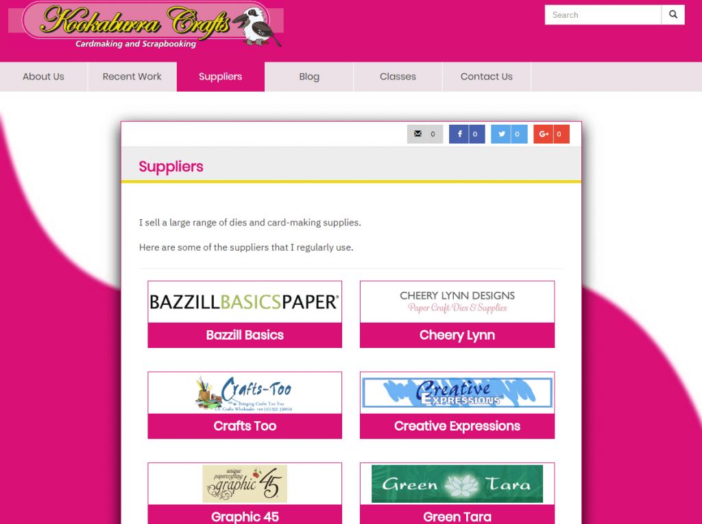 Supplier logos - Jacqui can manage all logos and text herself